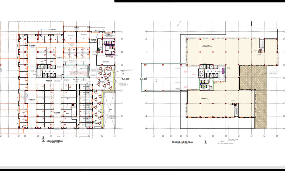 First & Second Floor Plans