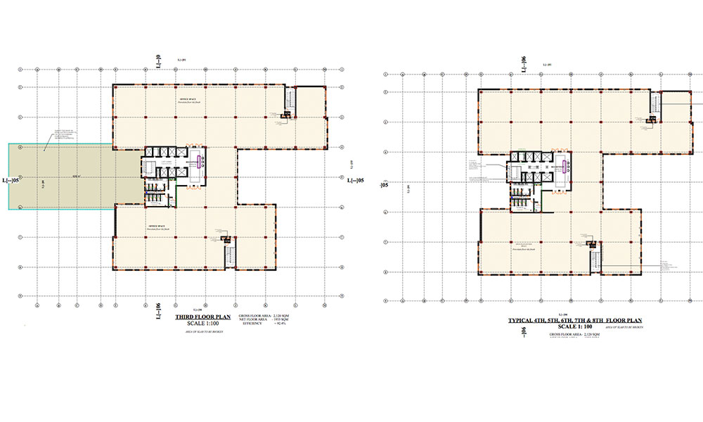 Third Floor & Eigth Floor Floor Plans